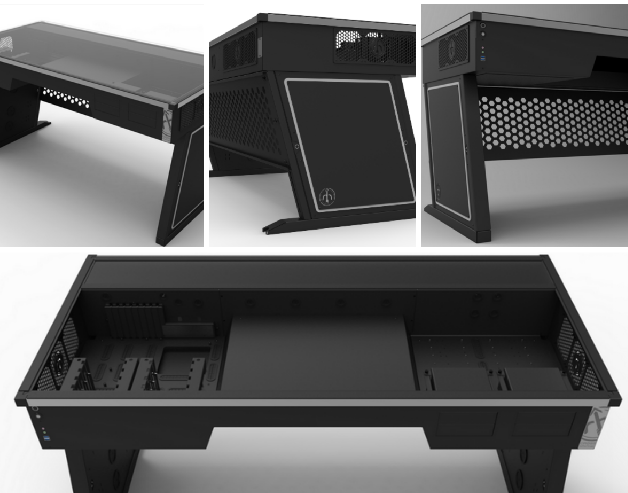 Limited Edition Cross Desk: Computer Desk + PC Case