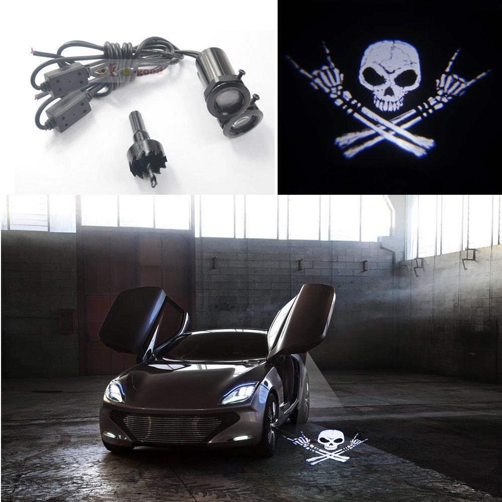 Skull Car Door Welcome Shadow Light