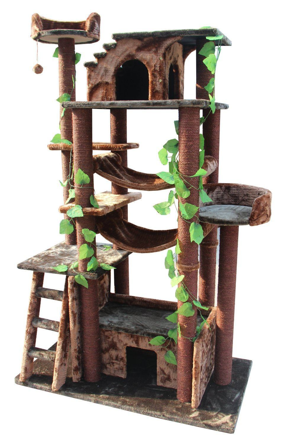 Kitty mansions amazon cat tree for Cool cat perches