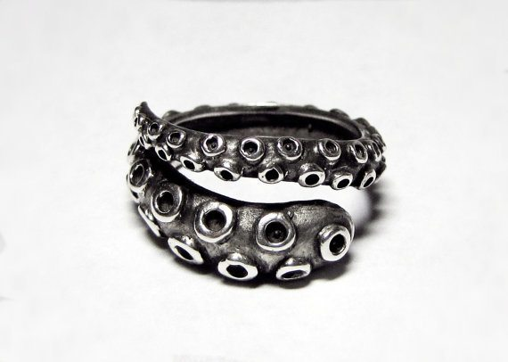 Octopus Tentacle Wrap Ring