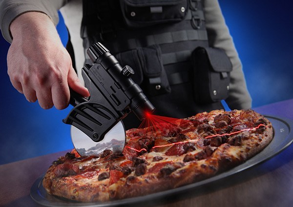 pizza cutter with laser