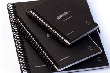 Letterforms: Reusable Dry Erase Notebooks