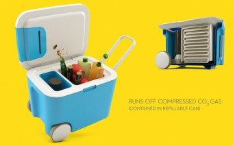 CO2ler: Cooler Uses Compressed CO2 Gas