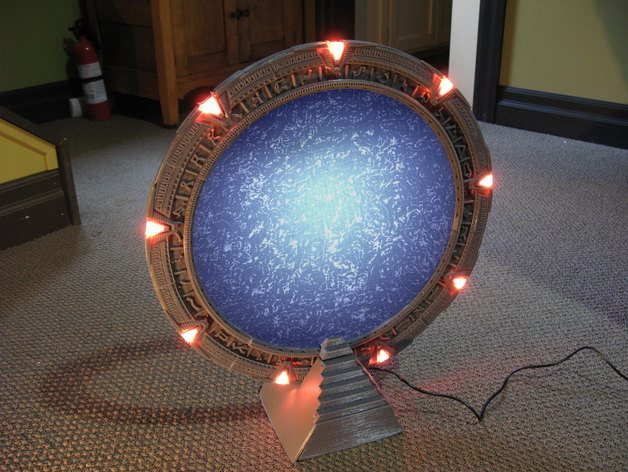 3d Printed Stargate With Arduino Control In Action