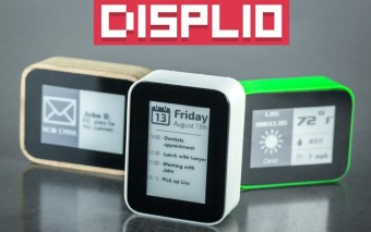DISPLIO WiFi + E-ink Display Tracks Things & Notifies You