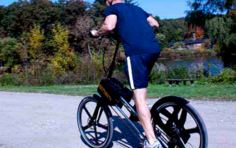 StrideRide Hybrid Elliptical Stepper Bike for Outdoors