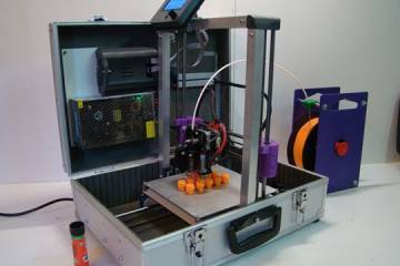 TeeBot: Open Source Suitcase 3D Printer