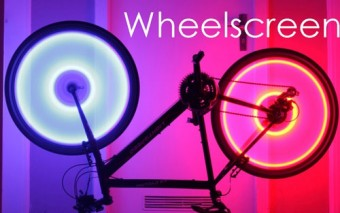 Wheelscreen Bicycle Wheel Lighting System