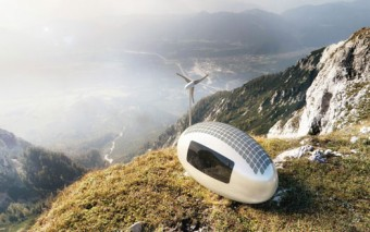 Ecocapsule: Compact Home + Solar/Wind Power