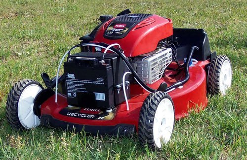 4wd Remote Control Lawn Mower In Action