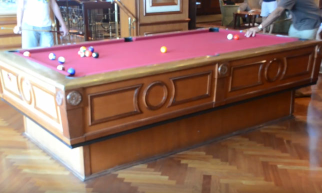 Self Leveling Tables : Gyroscopic self leveling pool table play in any condition