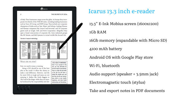 Icarus-A4-13.3-Inch-Android-E-reader