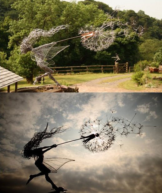 1-O'clock-Wish-Fairy-Wire-Sculpture