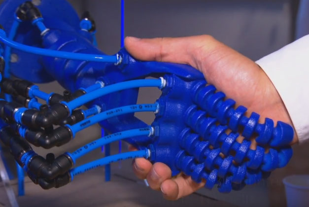 3d Printed Soft Robotic Hand With Air Chambers To Mimic